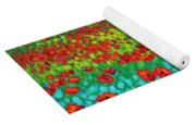 Evening Poppies Yoga Mat