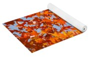 Fall Art Prints Orange Autumn Leaves Baslee Troutman Yoga Mat