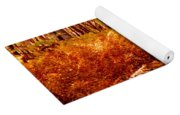 Fall Color In The Woods Yoga Mat
