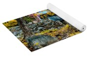 Fall Colors Over The Flume Gorge Covered Bridge Yoga Mat