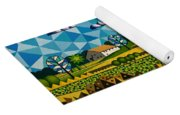 Farm On Hwy 28 Framed  Yoga Mat
