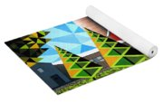 Farm With Three Pines And Cow Yoga Mat