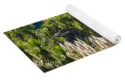 Feathery White Plants Yoga Mat