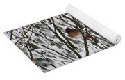 Female Cardinal In The Snow Yoga Mat