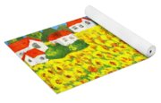 Field With Sunflowers Yoga Mat