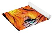 Fiery Crystal Yoga Mat