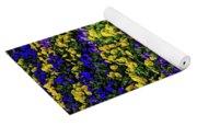 Fine Wine Cafe Colorful Garden Yoga Mat
