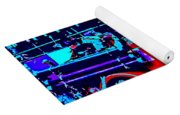 Fire Engine Red In Blue Yoga Mat