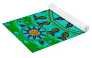 Fishes In Freedom Under The Sun Yoga Mat