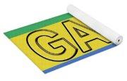 Flag Of Gabon Word. Yoga Mat