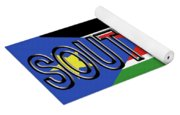 Flag Of  South Sudan Word Yoga Mat