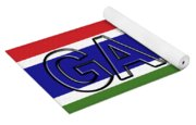 Flag Of The Gambia Word. Yoga Mat