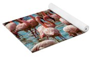 Flamboyance Of Flamingos Yoga Mat