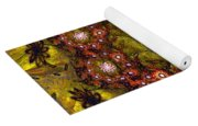 Floral Fractal Wreath  Yoga Mat