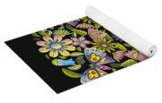 Floral Mandala Pattern Yoga Mat