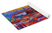 Florence Sunset 10 Modern Impressionist Abstract City Knife Oil Painting Ana Maria Edulescu Yoga Mat