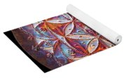 Flower Of Life Copper Lightmandala Yoga Mat