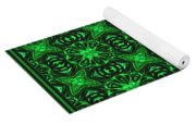 Flowers And Bees Abstract Yoga Mat