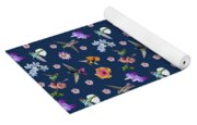 Flowers And Hummingbirds 2 Yoga Mat