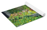 Flowers Floating Yoga Mat