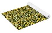 Flying Over Sunflower Fields Yoga Mat