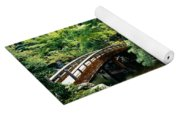 Footbridge Across A Pond, Kyoto Yoga Mat