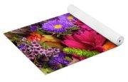 Gathered Garden Flowers Yoga Mat