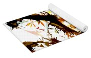 Gazing Into The Autumn Trees Yoga Mat