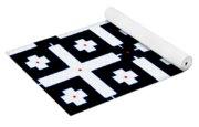 Geometric In Black And White Yoga Mat
