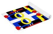 Geometric Shapes Abstract Square 3 Yoga Mat