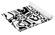 Gibberish Black And White Abstract Yoga Mat