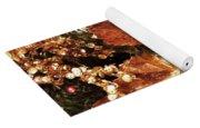 Gold Ornaments Holiday Card Yoga Mat