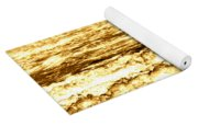 Gold Waves Yoga Mat