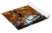 Golden Autumn Trees Yoga Mat