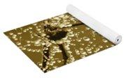Golden Dewdrops Yoga Mat