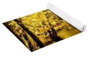 Golden Fall  Yoga Mat