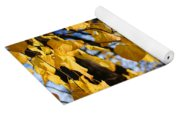Golden Leaves Yoga Mat