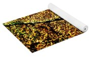 Golden Texture Abstract Yoga Mat