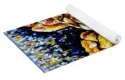 Golden Tulips Yoga Mat