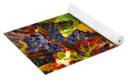 Grapes On Vine In Vineyards Yoga Mat