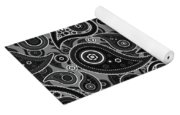 Gray Paisley Design Yoga Mat