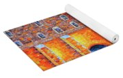 Wailing Wall Greatness In The Evening Jerusalem Palette Knife Painting Yoga Mat