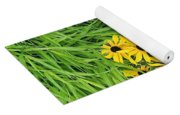 Green And Yellow Burst Yoga Mat