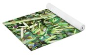 Green Bamboo Tree Yoga Mat
