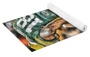 Green Bay Packers Team Art Yoga Mat