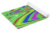 Green Color Abstract #140 Yoga Mat