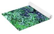 Green Crystal Digital Abstract Yoga Mat