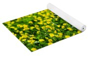 Green Field Of Yellow Flowers 2 1 Yoga Mat