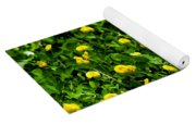 Green Field Of Yellow Flowers 4 Yoga Mat