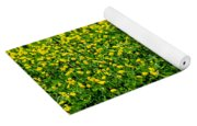 Green Field Of Yellow Flowers Yoga Mat